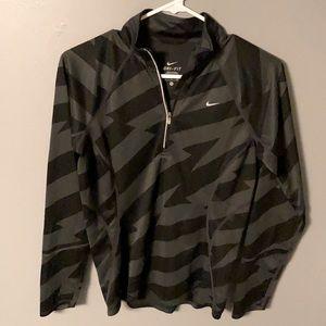 Nike 1/4 Zip Striped Athletic Shirt (S)